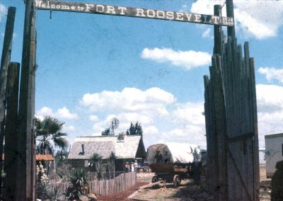 Fort Roosevelt's iconic gates